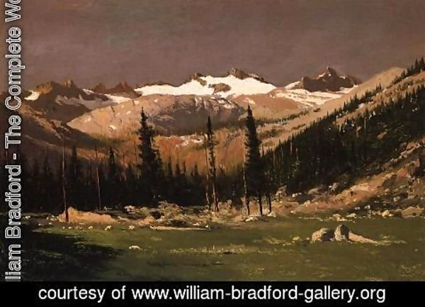 William Bradford - Mount Lyell Above Yosemite