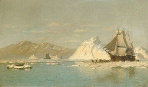 William Bradford - Off Greenland   Whaler Seeking Open Water