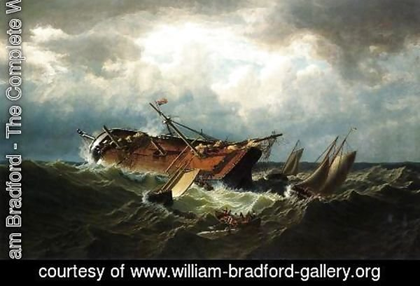 William Bradford - Shipwreck Off Nantucket (Wreck Off Nantucket After A Storm)