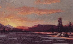 William Bradford - Winter Sunset